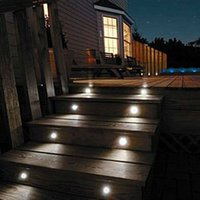 Wholesale Stainless Steel Round Led Deck illumination Light for Indoor and Outdoor Waterproof IP6712V w w Led Step Light for Garden