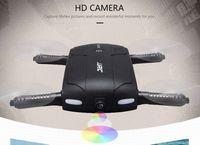 Bon Marché Nouveaux drones de caméra-Le plus nouveau Mini Drone avec la caméra de 0.3MP Wifi HD JJRC H37 ELFIE Gyroscope à 6 axes WIFI FPV Quadcopter