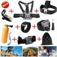 Wholesale 8in1 Gopro Accessories Chest Head Strap Monopod Floating Bobber Mount for Go pro Hero xiaomi yi action camera sjcam sj4000