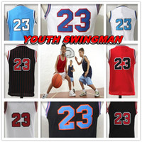 Wholesale Children S Christmas Gifts Cheap - YOUTH KID Children Stitched Swingman Christmas Birthday Gift Michael Tune Squad 23 Jersey Hot Throwback jerseys Sport Space Jam Cheap