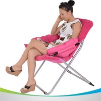 Wholesale Deluxe Sun Moon Chair Outdoor Sun Loungers Super Soft Cotton Fabric Sun Chairs Multicolor Balcony Leisure Folding Chairs