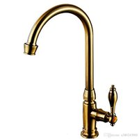 Wholesale BaiDaiMoDeng kitchen washstand antique single faucet hand washing bowl rotation long water faucet gooseneck swan faucet retro single l