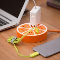 Wholesale Lemon U Adorable Plug Socket Creative Multi Port USB Circular Wiring Board Socket