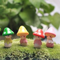 Wholesale 2016 Miniature Resin Mushroom Doll For DIY Mosses Succulents Potted Micro Landscape Garden Figurine Ornament Fairy Free Ship H1245