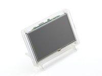 al por mayor plátano pro pi-Frambuesa Pi Pantalla LCD 5 pulgadas HDMI LCD (B) (con caso claro) Pantalla táctil Soporta Frambuesa Pi 2 Banana Pi / Banana Pro