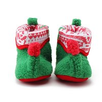 Wholesale Hug Me Baby Girls Boys First Walker Shoes Christmas Bow Baby Moccasins New Soft Bottom Shoes AA SO
