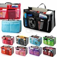 Wholesale HOT Women Travel Insert Handbag Purse Large liner Tote Bags Organizer Bag Storage Bags Amazing make up bags Colors DH004