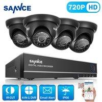 al por mayor cámaras tvl-SANNCE Nuevo 4 en 1 DVR 8CH 720P HDMI TVI CCTV DVR 4PCS 1.0 MP IR cámara de vigilancia al aire libre 1200 TVL sistema de vigilancia de la cámara