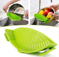 Wholesale Silicone Multifunction Funnel Strainer Pot Pan Bowl Baking Wash Rice Colander Kitchen Accessories Gadgets cooking Tools