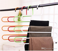 Wholesale Giant S Shape Trousers Neat Metal Pants Hangers Closet Storage for Jeans Trousers Space Saver Storage Rack
