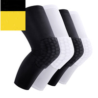 Wholesale High Quality Breathable Outdoor Sport Safety Kneepad Honeycomb Pad Bumper Brace Kneelet Protective Knee Pads Exercise Elastic Support Hose