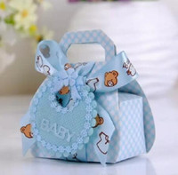 baby shower favor gift boxes - Bear Shape DIY Gift Christening Baby Shower Party Favor Boxes Paper Candy Box