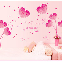 abstract flower photos - QT DIY Romantic Pink Love Flower Photo Frame Waterproof Wall Sticker Home Decor Marriage Room Bedroom Decal Art Mural