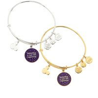 Wholesale original Alex and Ani Believing is just the beginning Bangle new style customizable Charm shrinkable brass bracelet
