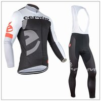 Wholesale 2016 Team Cervelo Long Sleeve Cycling Jerseys Roupa Ciclismo Bicycle Clothes Quick Dry Bike Cycle Clothing Polyester