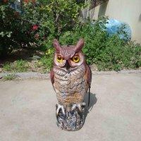 Wholesale ZILIN Great horned owl decoy fake plastic owl bird repeller bird scaring garden defence owl cm