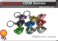 Wholesale Auto Parts Model Spinning Ring Turbo Charger Key Chain with Light Key ring Spool Drift JDM TDI VAG Euro Keyfob