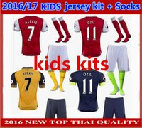 Boys arsenal boy - best Thai Quality kids Arsenals Soccer Jerseys kits socks OZIL WILSHERE RAMSEY ALEXIS jerseys Home Away RD football shirt