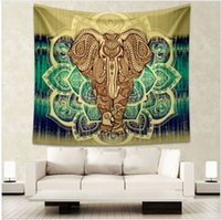 Wholesale 21 Colors Indian Elephant Tapestry Colored Printed Decorative Mandala Tapestry Indian cmx150cm cmx203cm Boho Wall Carpet