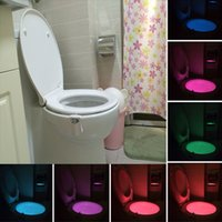 Wholesale factory supply V Motion Activated Toilet Nightlight Human Body Induction Toilet LED Lamp Colors W Motion Sensor Night Lights Indoor