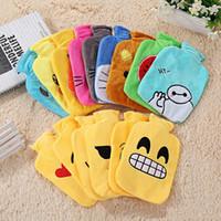 Wholesale Emoji mini plush thermos of hand warmer winters PVC Bouillotte re shuidai flush removable washable
