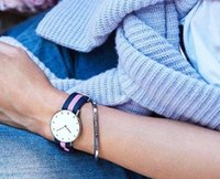 beaded bracelet watch - Fashion Brand Lovers Bracelet Strap Available For Daniel Wellington Watches Collocation Gold and silver DW Classic Cuff