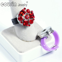 Wholesale JZ0001a e New arrivals pieces Colors charms Silicone ring fit mm Snap Button Fashion Design jewelry