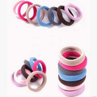 Wholesale colorful Ladies Hair Ring Rubber hair Bands multicolor Ties Elastic Hair Rope Women Hair Accessories for Girls Hair Gum accesorios