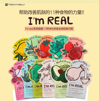 Wholesale Tonymoly I m REAL Facial Mask Sheet Korea Face Care Moisturizing Skin Care Aloe Vera Powder Face Mask DHL
