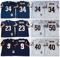 Wholesale 2016 New Arrive Walter Payton Throwback Jerseys Navy Blue White Retro Jim McMahon Mike Singletary Gale Sayers Devin Hester