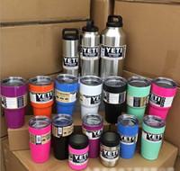 Wholesale YETI RTIC Tumbler YETI Cups Bilayer Stainless Steel Insulation Cup YETI OZ Cars Beer Mug Large Capacity Mug Tumblerful