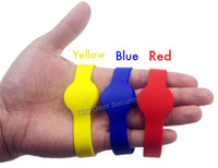 Wholesale 50Pcs RFID KHz EM4100 ID Color Waterproof Silicone Wristband Watch Tag Bracelet Watch Card Proximity ID Access Control