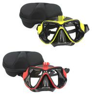 achat en gros de gopro caméras hero3-TELESIN Masque de plongée pour monture de plongée Lunettes de plongée sous-marine pour GOPRO HERO3 / 3 + / 4/5 xiaomi yi Caméra d'action Livraison gratuite
