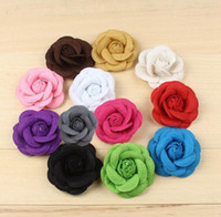 Wholesale Hot Lapel Flower Man Woman Camellia Handmade Boutonniere Stick Brooch Design Pins for Men s Accessories Fashion Xmas Gift