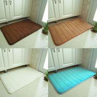 Wholesale hot sale New Foldable Coral Velvet Bath Mat Absorbent Slip resistant Pad Bathroom Mats