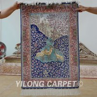 Wholesale 2 x3 animanls and flower persian carpet hand made turkish silk rug