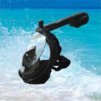 diving equipment - water sports equipment degree easy breath snorkel mask black diving mask for go pro camera