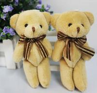 Wholesale Cute Soft Plush Stuffed Mini Brown Ribbon Teddy Bear Toys Doll for Bouquet