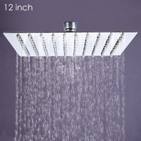 Wholesale Bathroom inch High Pressure Ultra Thin Stainless Steel Square Rain Shower Head Rainfall Shower Chrome