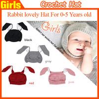 Cheap Unisex Rabbit Ears Cap Best Autumn Winter Crochet Hats Knit Hats