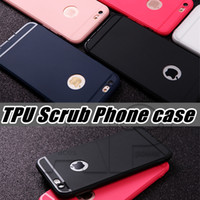 Wholesale Slim Silicone Case for iphone s Cover Candy Colors Black Shell Soft PP Matte Phone Case for Apple iphone plus