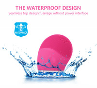 Wholesale 2016 newest sonic electric Face Cleanser Vibrate Waterproof Silicone Cleansing Brush Massager Facial Vibration Skin Care Spa Massage