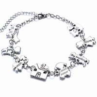 best friends cute - Creative Whole Family Members and Pets Charms Bangle Bracelets Memory Jewelry Cute Charm Bracelet for Families Best Friends