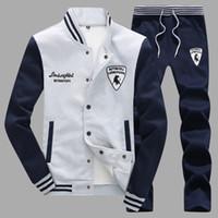 Wholesale Tracksuit Men Spring New Fashion Splice Designer Mens Hoodies Sweatshirt Plus Casual Slim Hoodie Sportswear Suit Pants