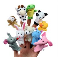 animal stories cow - Baby Plush Toy Finger Puppets Hand Puppets for Kids Tell Story Props Animal Dolls Mouse Panda Elephant Rabbit Dog Cow