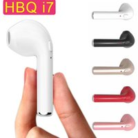 Wholesale high quality HBQ I7 stereo binary channels bluetooth wireless in earphone earbud sports earphone with mic for smartphone