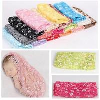 baby quilt photos - Newborn Photography Lace Wraps cm Baby Photo Tassel Wraps Basket Blanket fotografia Photography backdrops background Wrap