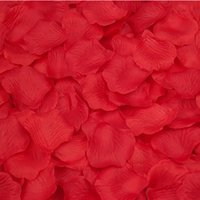 Wholesale 1000pcs Lifelike Artificial Silk Red Rose Petals Decorations Wedding Party Decorations RD Valentine Petale De Rose