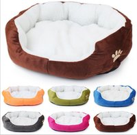 Wholesale 100pcs High Quality Brand Cat Bed Small Dog Puppy Kennel Sofa Pet Mat Cat House Dog Winter Nest Pet Products Colors Sizes