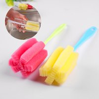 Wholesale 2Pcs Cup Brush Kitchen Cleaning Tool Sponge Brush For Wineglass Bottle Coffe Tea Glass Cup Mug
